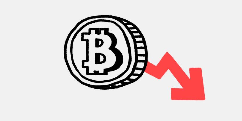 Курс Bitcoin резко упал.